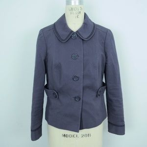 Boden Deauville Jacket Gray Textured Cotton